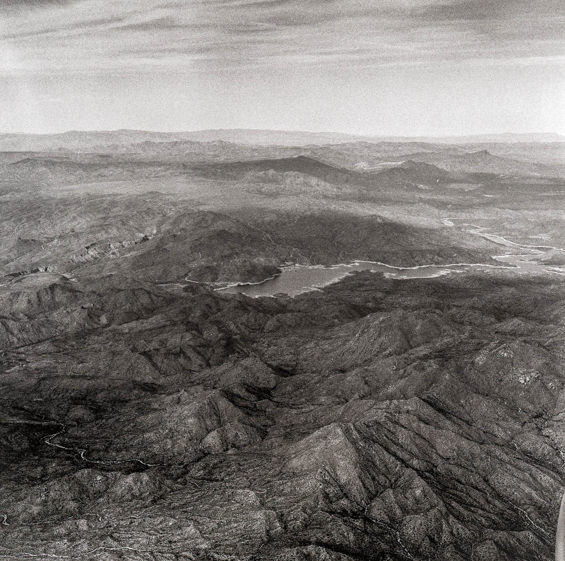 Landscape above Arizona, from the window seat.