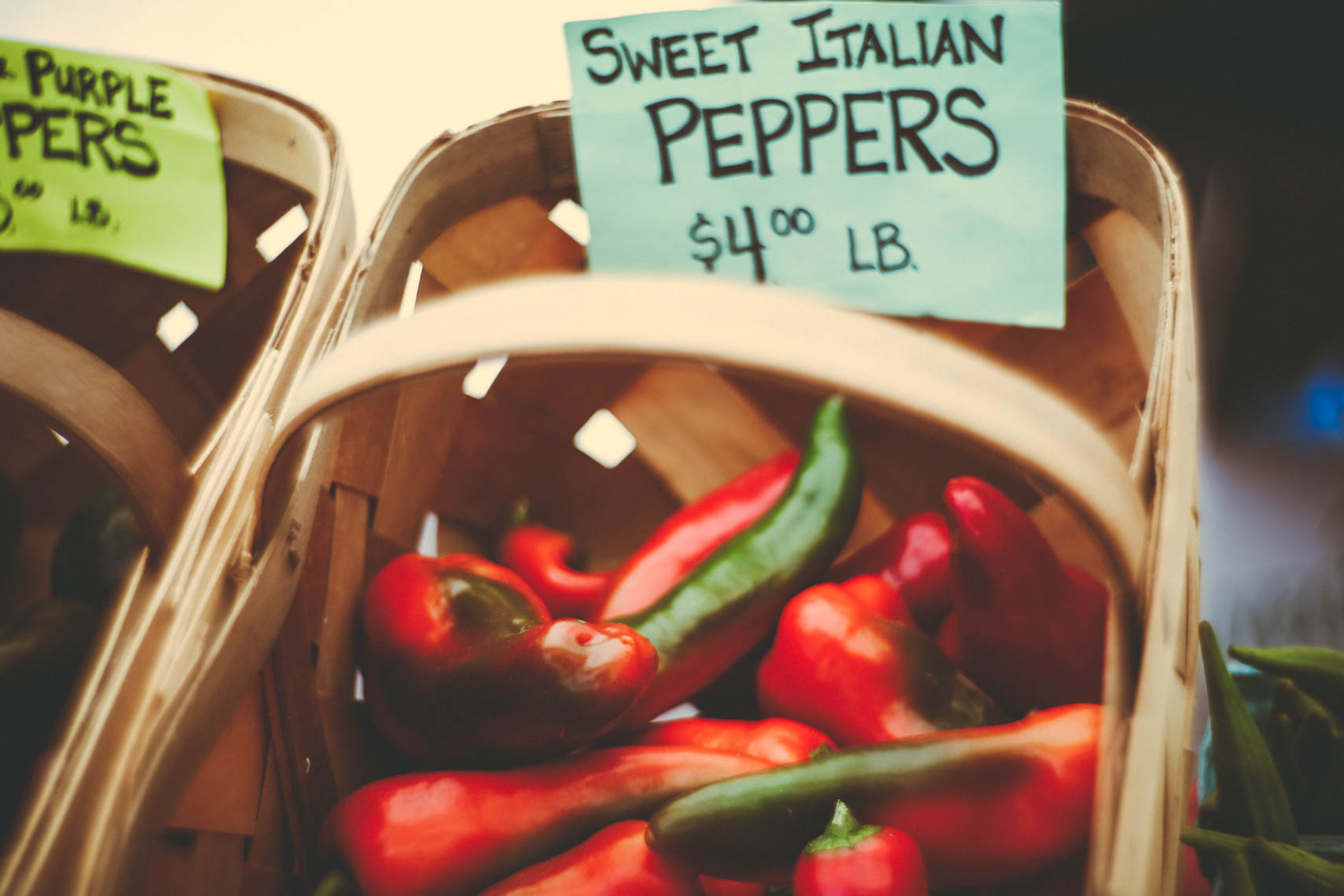 Sweet Italian peppers.